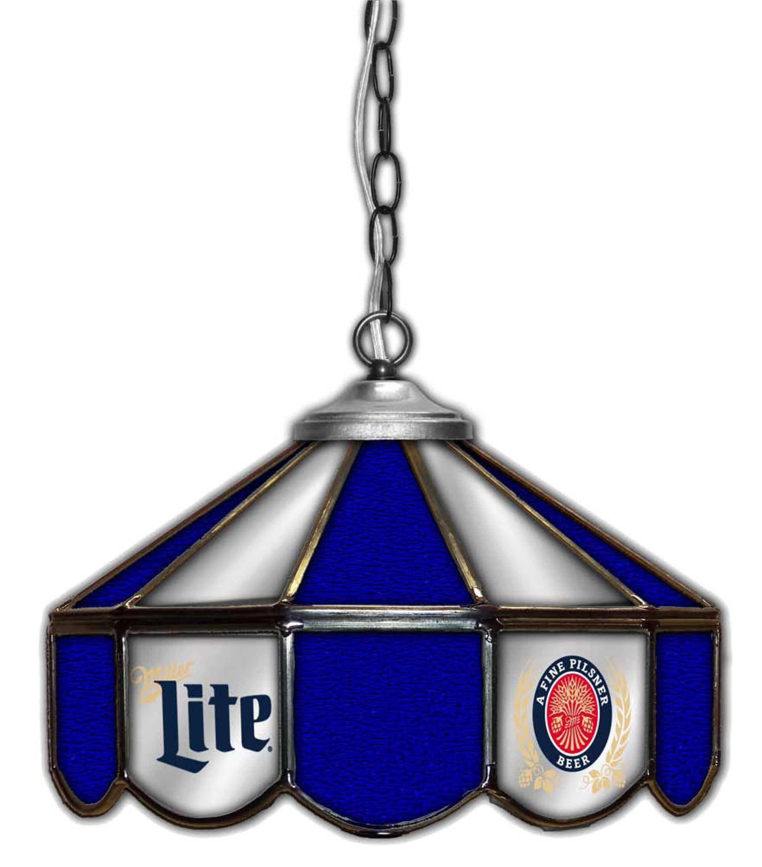 All American lamps officially licensed Miller Lite stained ...