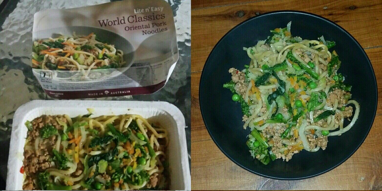 Lite n easy oriental pork noodles