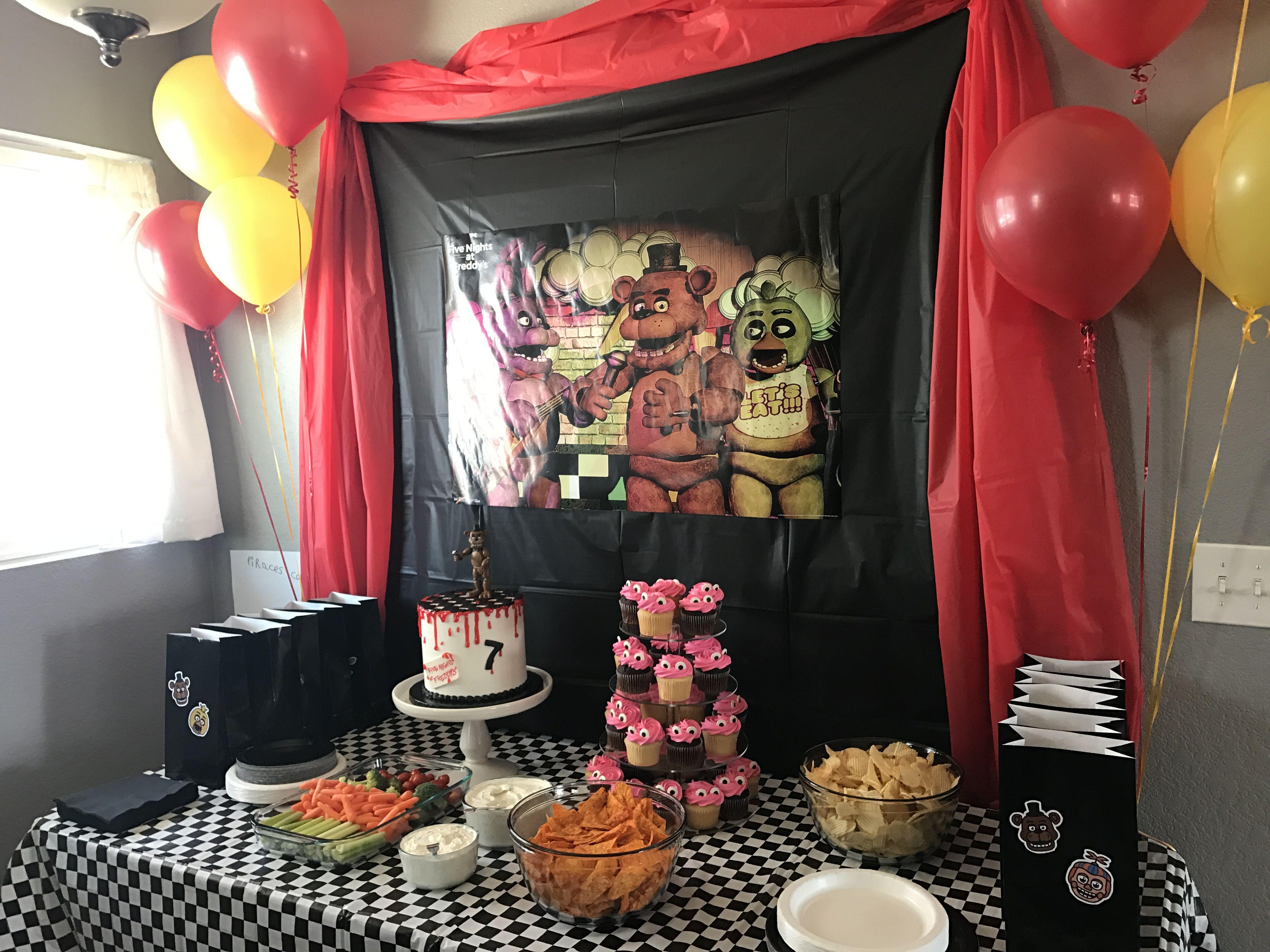 Five Nights At Freddy S Birthday Fnaf Birthday Fun Birthday Party Birthday Party Supplies 9th Birthday Parties