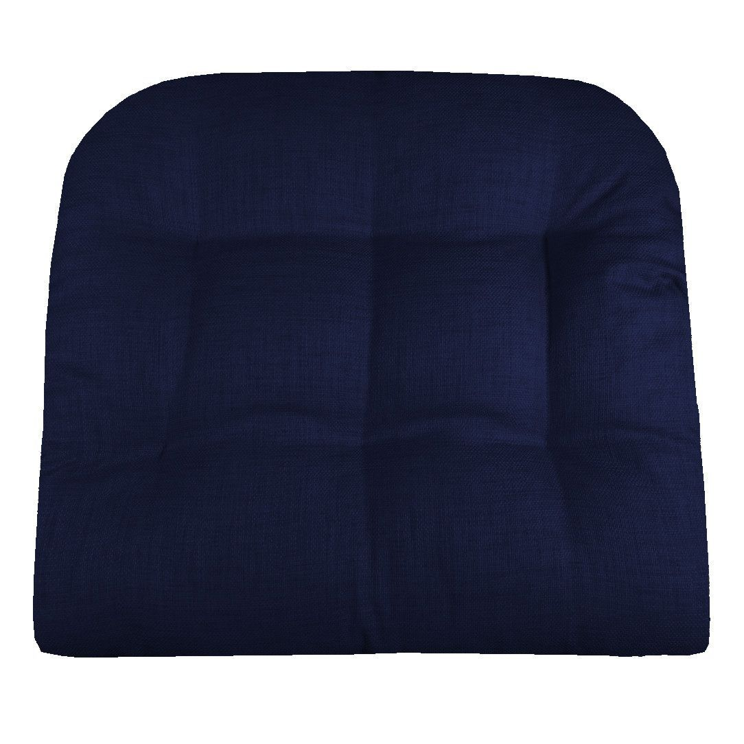 Rave Indigo Blue Patio Chair Cushions Indoor Outdoor Dining