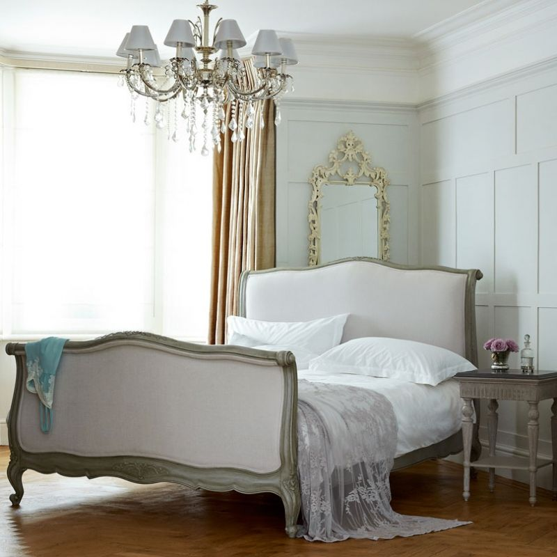 This gorgeous traditional French bed is laden