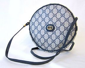 17e07f9902b15 Vintage 1980's Gucci GG Logo Round Canteen Bag. Still have this bag ...