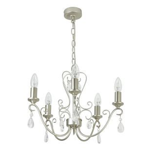 Buy heart of house lavena glass chandelier champagne silver at buy heart of house lavena glass chandelier champagne silver at argos aloadofball Images