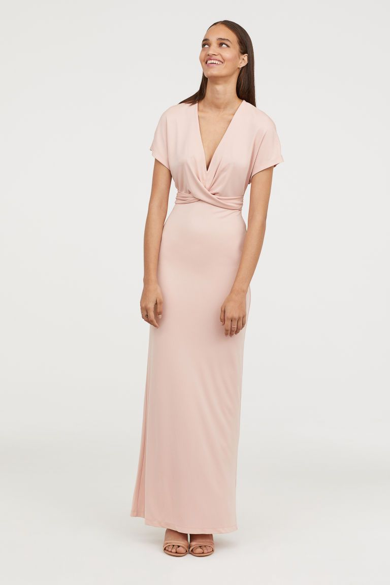 2770a9f4f2754a Long Draped Dress - Light apricot - Ladies
