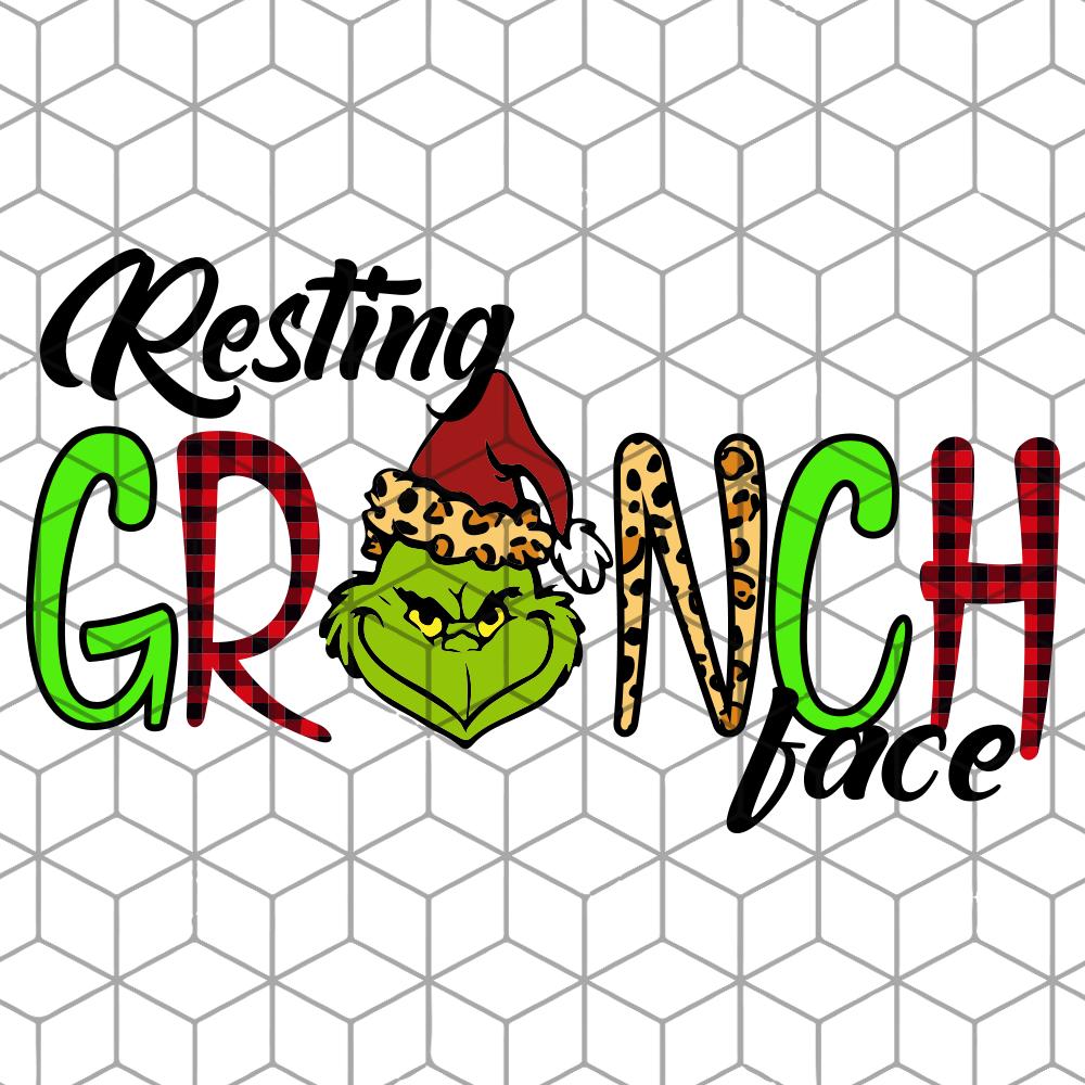 Resting grinch face, The Grinch, Grinch svg, Grinch