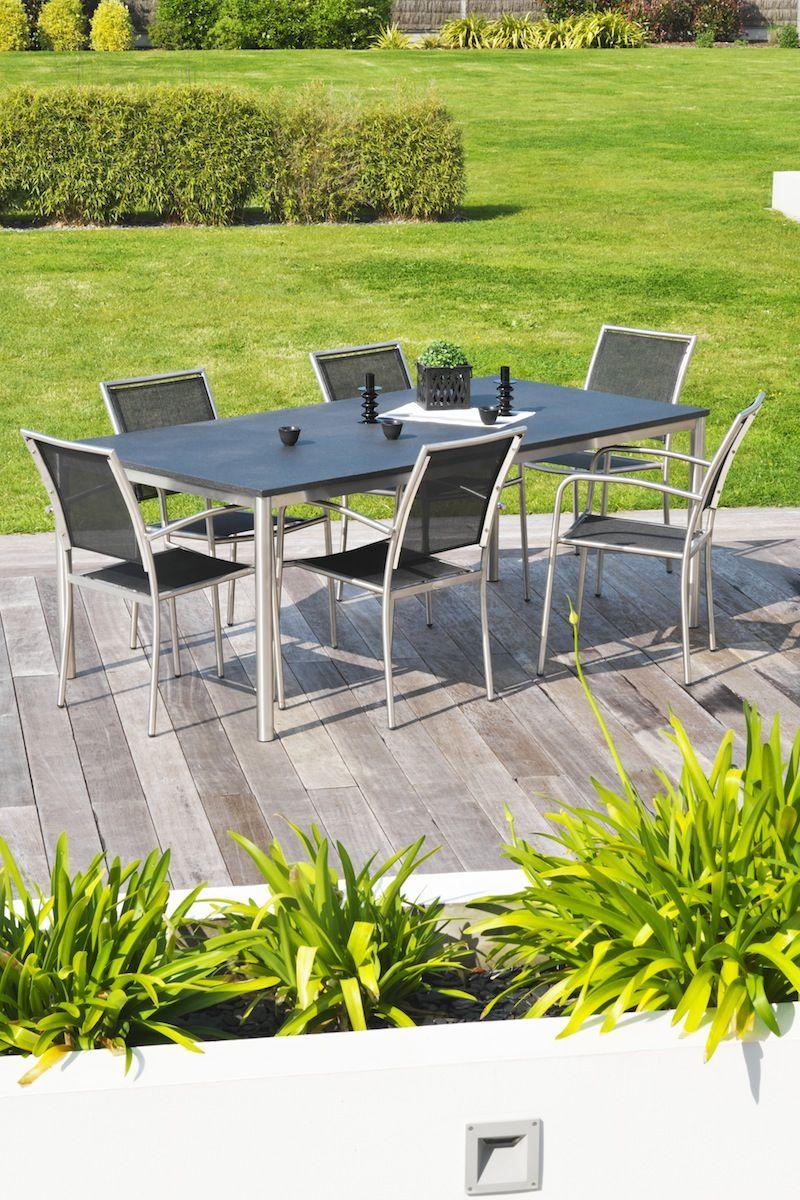 Ensemble Table Et Chaises En Aluminium Salon Jardin Ensemble Table Et Chaise Mobilier Jardin Table Et Chaises