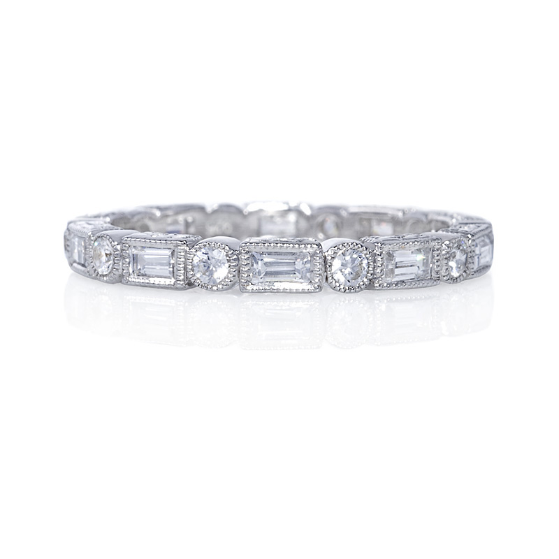 collection cut in rings ctw round ring white mosaic hi nk engagement baguette diamond wedding front
