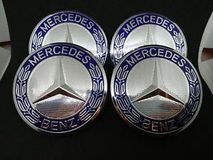 migliore qualità Super sconto Super sconto 4 tappi coprimozzo mercedes benz cerchi in lega 75mm classe ...