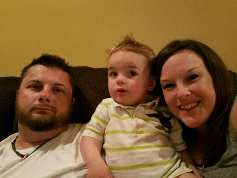 My wonderful son, wife and precious grandson.