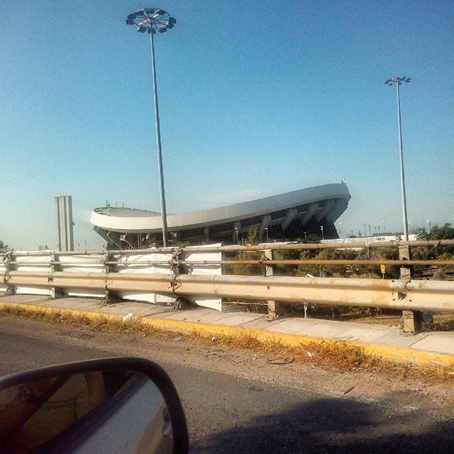 #yesterday #morning #on_the_road  #peiraias #sky #stadium #curve #architecture #summer_in_athens by tasos_karamaneas