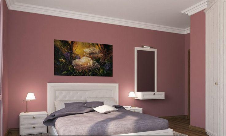 welche wandfarbe fur schlafzimmer, schlafzimmer in altrosa: ideen für farbkombinationen als wandfarbe, Design ideen