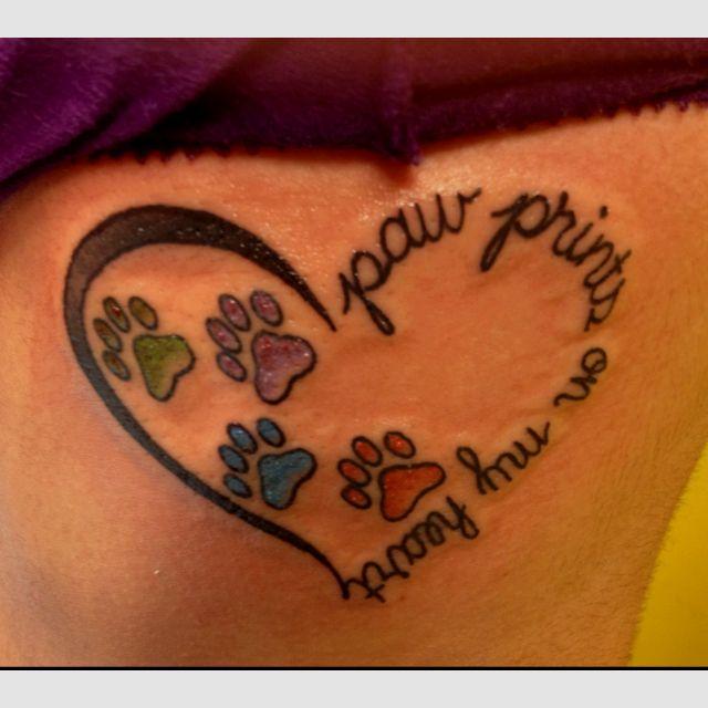 Heart Shaped Paw Prints Tattoos: Tattoos, Dog Tattoos, Tattoo Designs