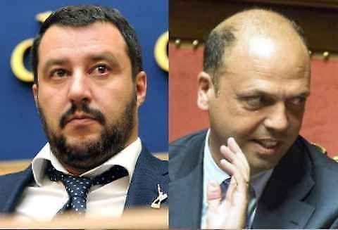 Matteo Salvini e Angelino Alfano, Rissa in Diretta da Bruno Vespa.
