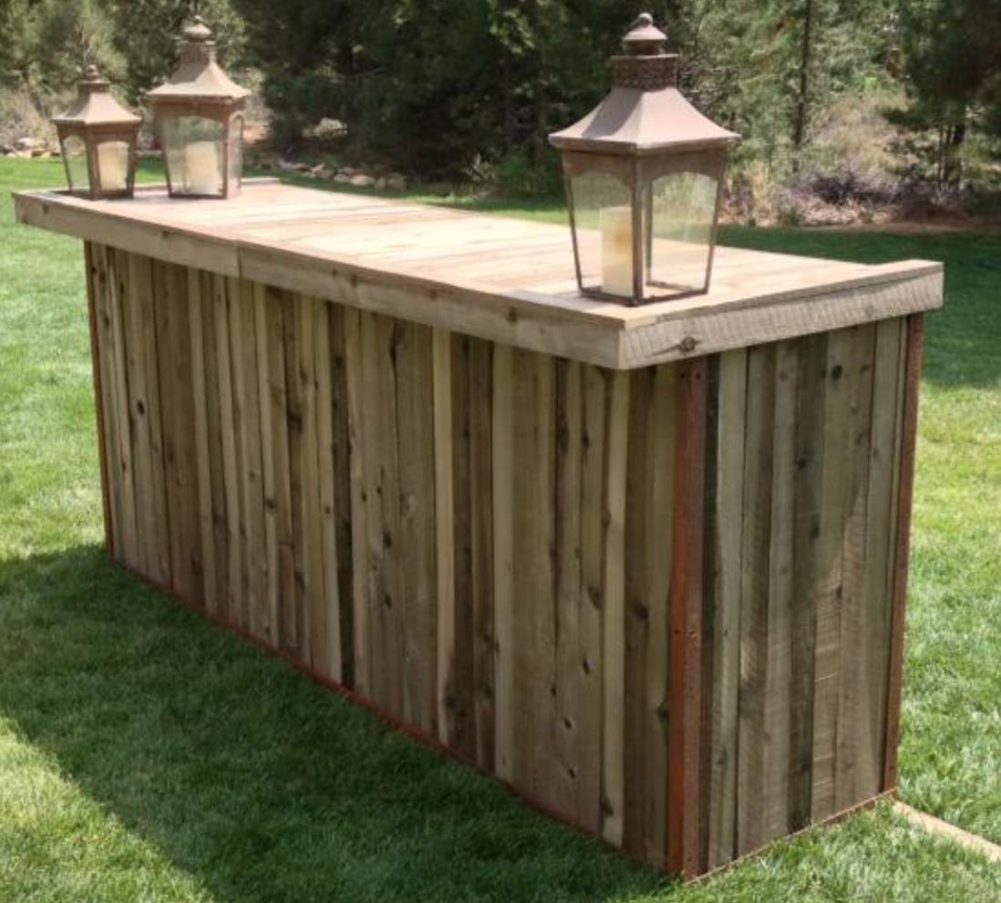 Reclaimed Wood Bar - Crux Event Design Lumberjack Jam
