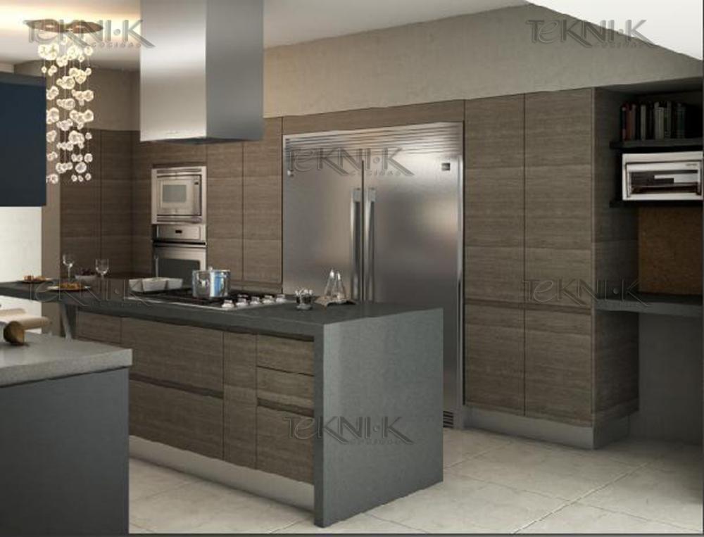 Cocina moderna con puerta panel laminado de importaci n for Puertas de cocina modernas