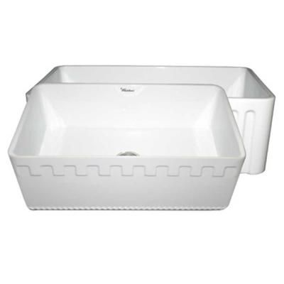 Whitehaus Reversible Apron Front Fireclay 30x18x10 0 Hole Single Bowl Kitchen Sink In White Whflatn3018 Wh At Farmhouse Sink Kitchen Single Basin Fireclay Sink