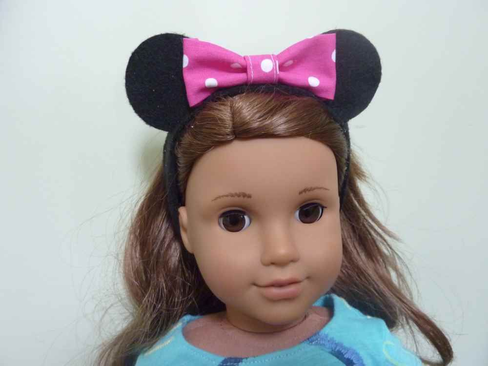 minnie mouse headband for American Girl dolls - for all our Disney trips!  My daughter wants to make this badly for her doll. 8a08ee59c14e