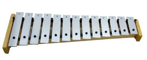 Suzuki Musical Instrument Corporation SD-250 Soprano Glockenspiel by Suzuki Musical Instrument Corporation. $132.57. Soprano Glockenspiel:Suzuki diatonic Glockenspiels add sparkle and excitement to every Orff concert. Each aluminum bar is meticulously tuned for perfect pitch and harmonics. Each Suzuki Glockenspiel comes complete with inside Note name labeling, bottom positioned Pins, 1 Bb and 2 F# bars and 2 Pairs of appropriate double Headed Mallets.