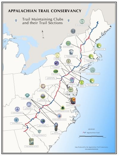 Appalachian Trail In Maine Map.From Georgia To Maine Or The Other Way Through Hiking The
