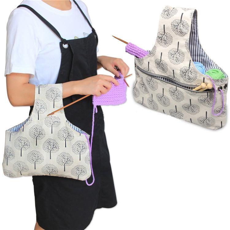 Travel Project Yarn Bag   Crochet Go   Diy   Pinterest   Knitting ...