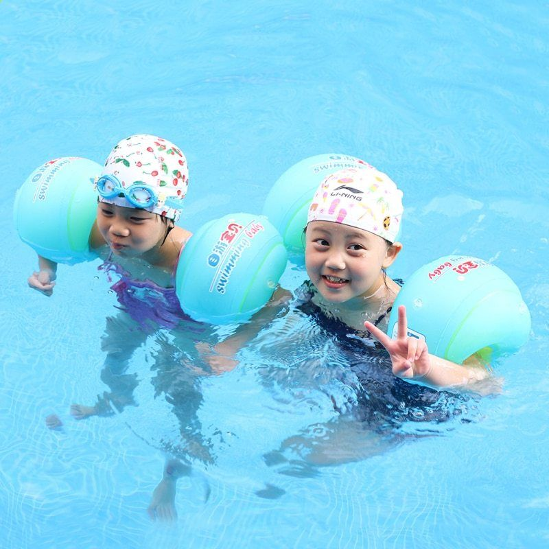 Fusicase Super Cute Fish Pattern Clear Ring Children Inflatable Toy Swimming Pool Float for Baby Kids