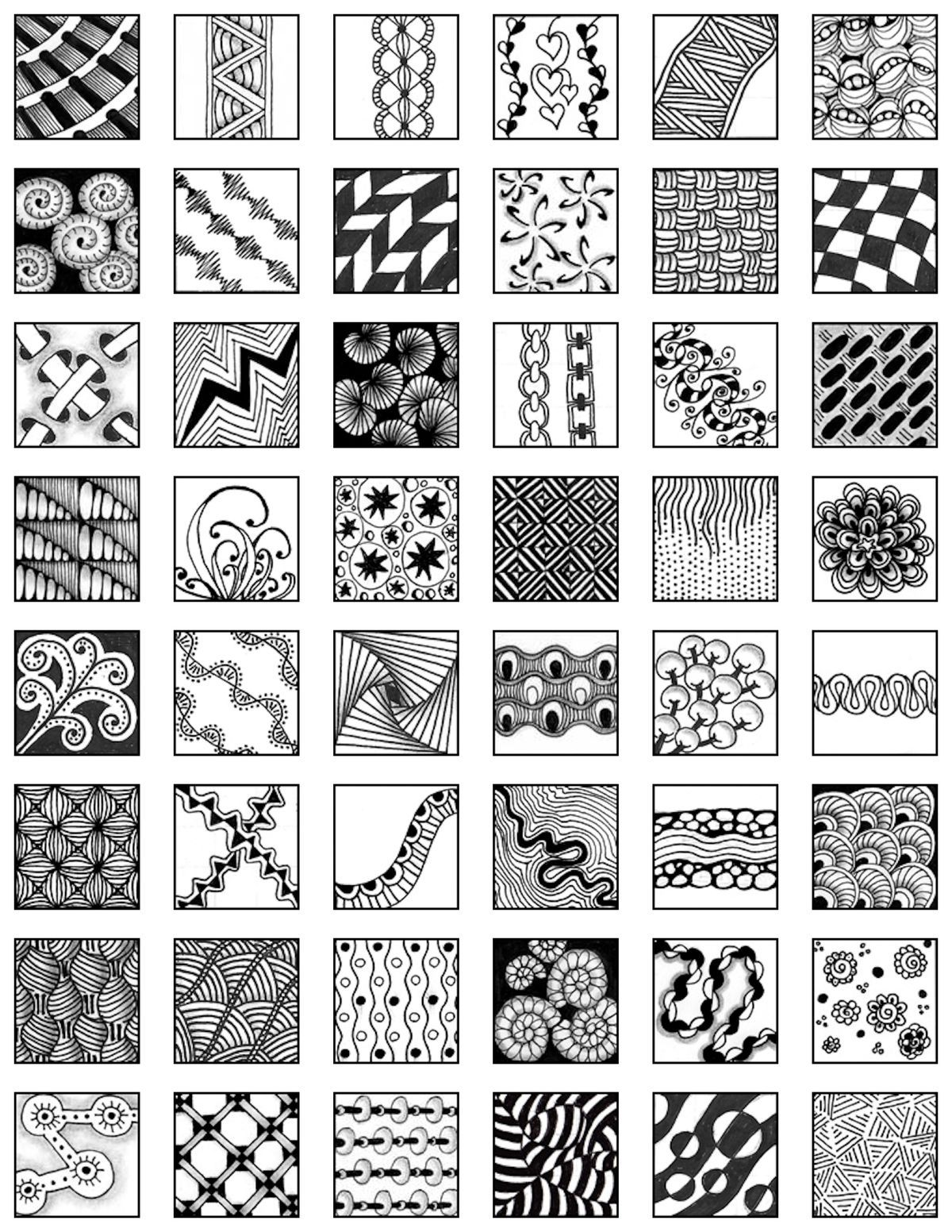 Fa50d000f802080fcd6ad2e638cecb40 Jpg 1 200 1 552 Pixeles Zentangle Kunst Zentangle Designs Zentangle