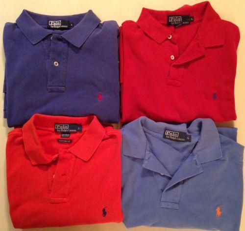 Polo Ralph Lauren Collar Golf Shirt Lot Of 4 Red Orange Navy Light Blue Pony https://t.co/8af6QtEMuZ https://t.co/WNcaYJjuis