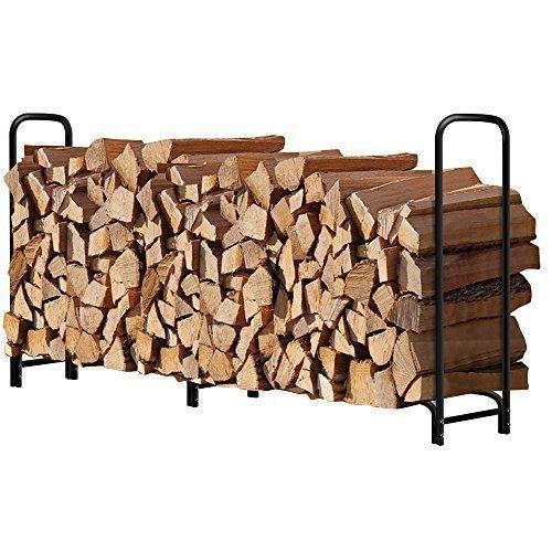 8ft Outdoor Tubular Firewood Rack For Fireplace Log Holder Landscape  Toolshed Kindling Storage Bin Woodpile Firepit Cut Green Fresh Dry Wood  Stack Stand ...