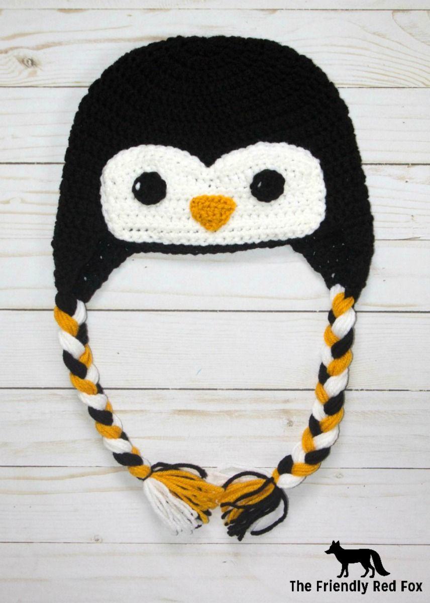 Free Crochet Hat Friendly Penguin | Crochet | Pinterest | Croché ...