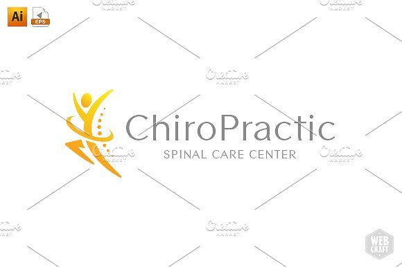 Chiropractic Logo Template 10 by WebCraft on
