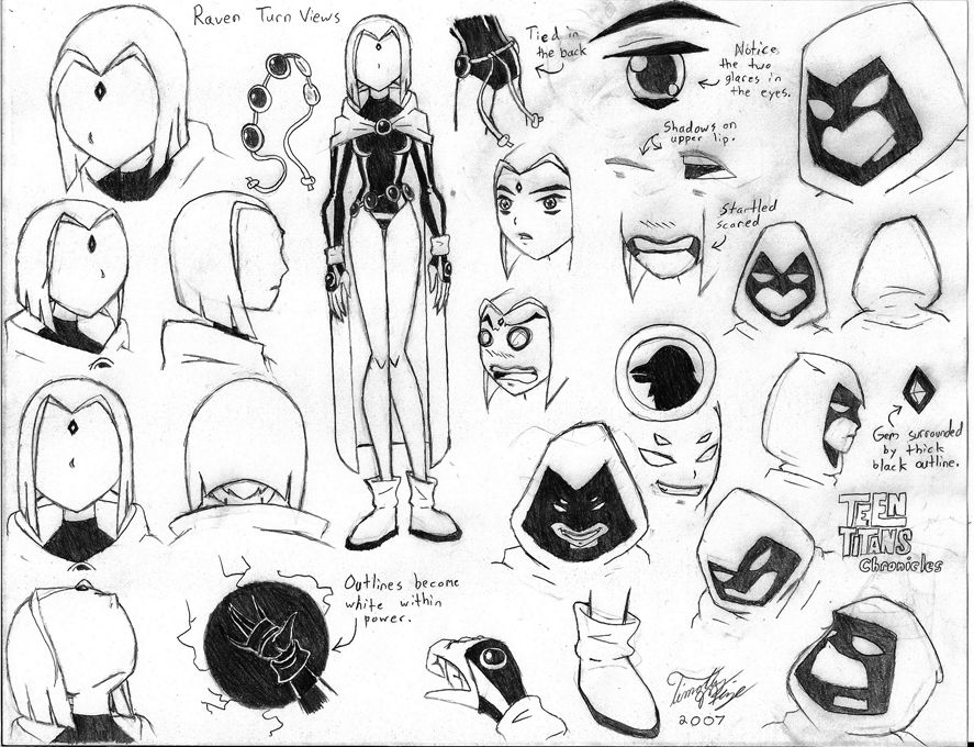 Teen Titans Raven Character Sheet Raven