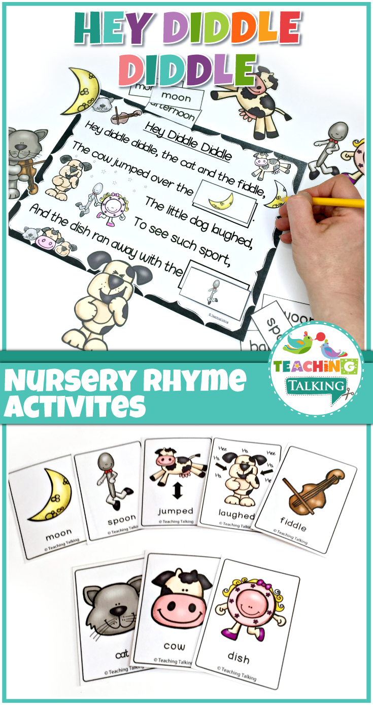 Nursery Rhymes Activities for Hey Diddle Diddle | Pinterest | Hey ...