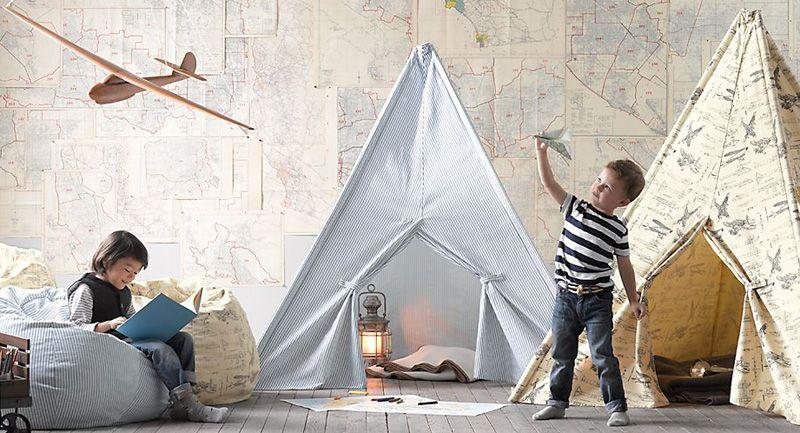 Sección de decoración en QuiereteBien.com Decoración para niños, tiendas de campaña, avión