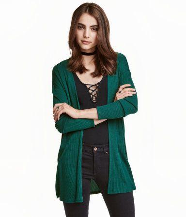 85ba454cdf8 Emerald green. Cardigan in a soft