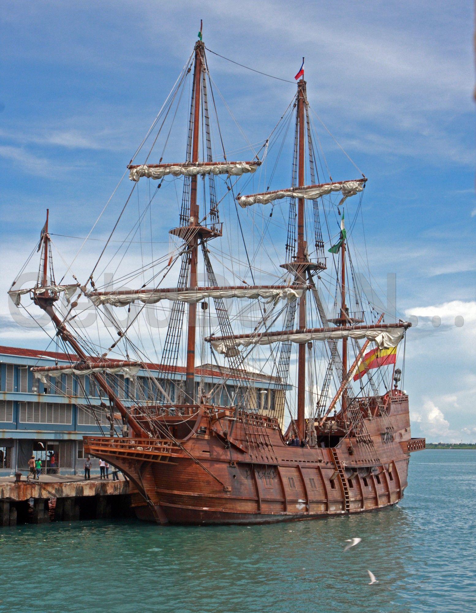 Spanish galleon docks in Cebu port | Ships | Ship, Spanish galleon