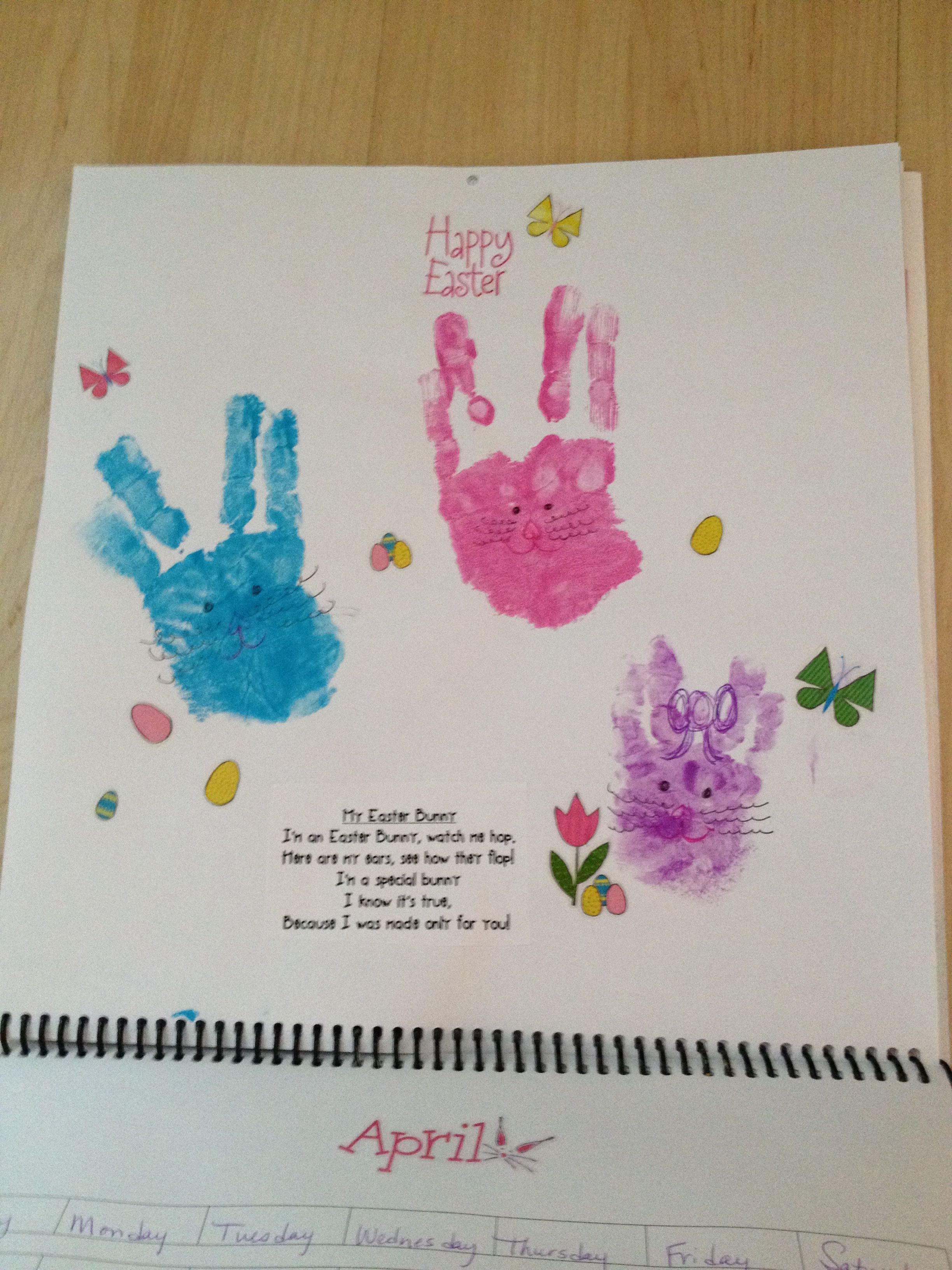 Handprint Calendar Craft Ideas Pinterest Calendar Time Art