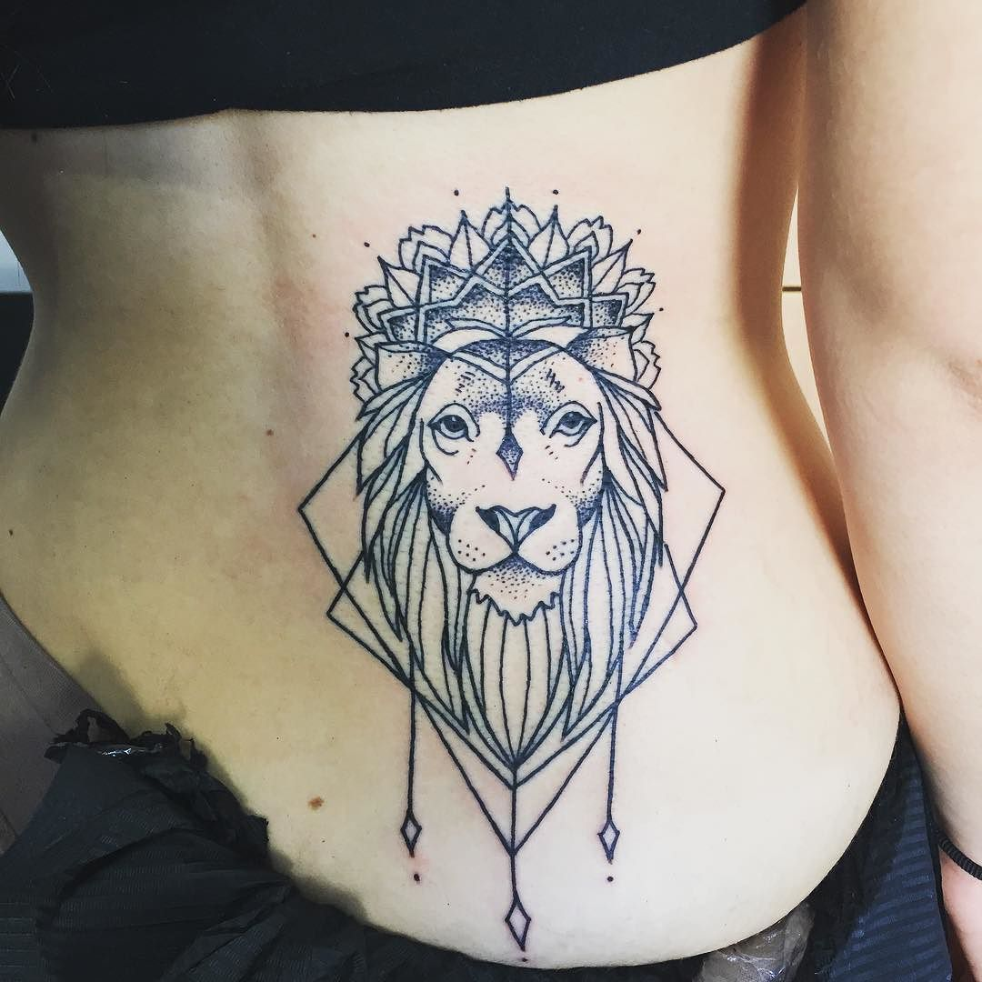 Follow and tag @inkedmagz to get featured Lion in Zion dotwork lines tattoo…
