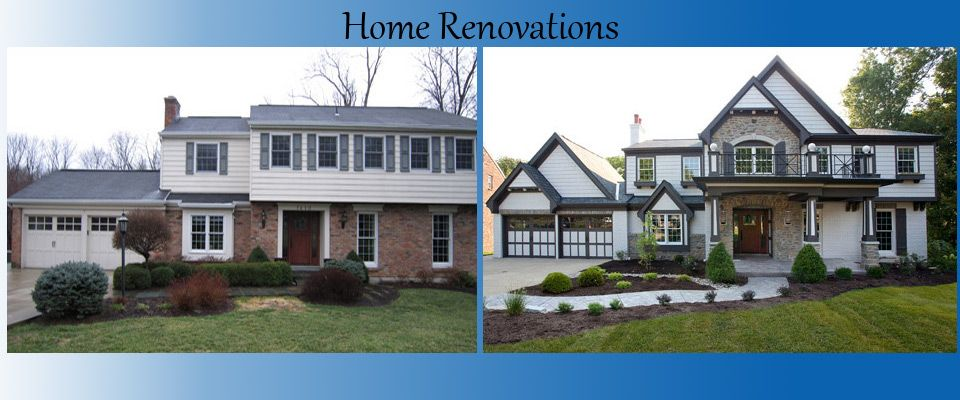 Home remodeling pictures before and after homes cincinnati ohio residential remodel before - Exterior home remodel ...