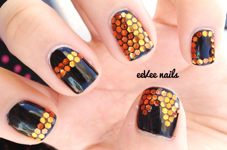 Classy Halloween Glequin Nails | Nails, Classy halloween ...