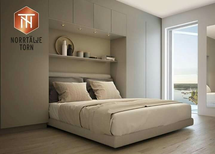 platsbyggd garderob i sovrum sovrum in 2018 pinterest lit chambres parentales and chambre lit. Black Bedroom Furniture Sets. Home Design Ideas