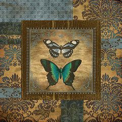 Jean Plout Art - Butterfly Patchwork  by Jean Plout