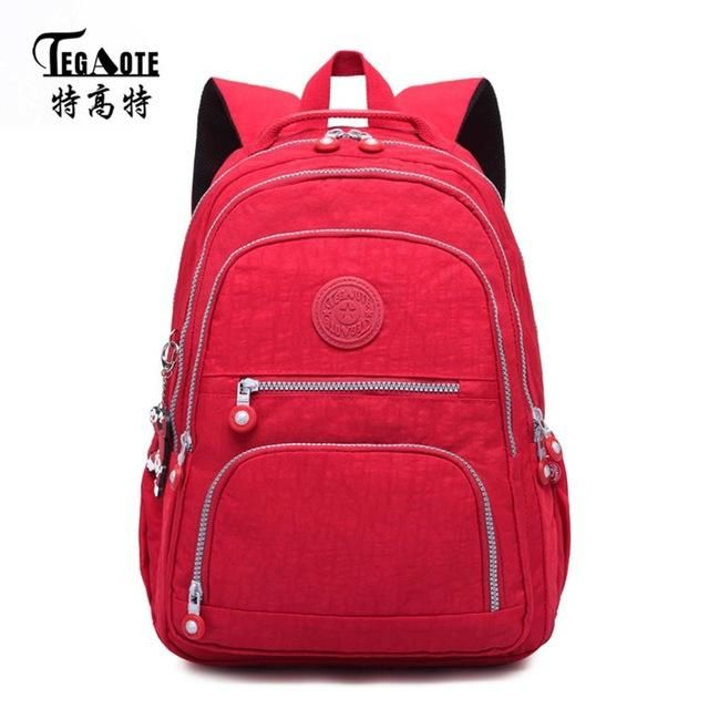 9ceb3bdb26ae TEGAOTE Classic Backpack for Women School Bag for Teenage Girls Nylon  Backpacks Female Casual Travel Laptop Bag Mochila Feminina