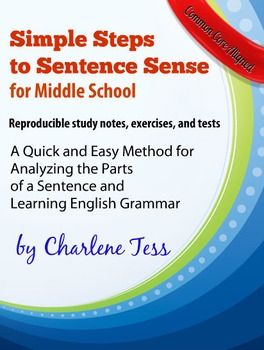 Simple Steps to Sentence Sense for Middle School | Straight