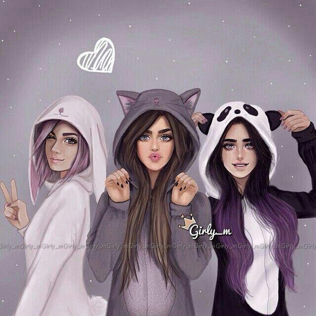 Friends Best Friend Drawings Girly M Bff Drawings