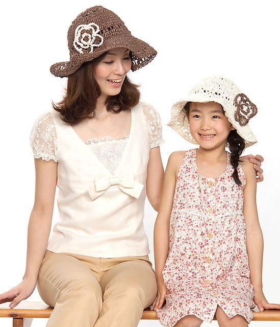 Flower Hat by Pierrot (Gosyo Co., Ltd)  http://www.ravelry.com/designers/pierrot-gosyo-co-ltd