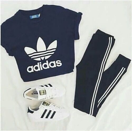 adidas, fashion, and outfit image | Sport outfits, Adidas