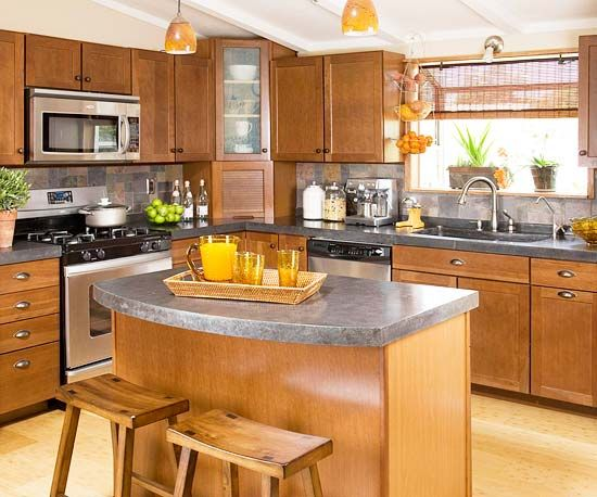 Kitchen Focal Points - I like the white ceiling - we have a wood and granite kitchen but it's still not quite there.