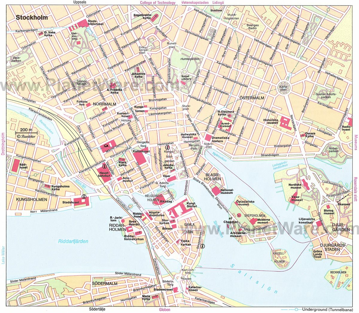 Stockholm Map Tourist Attractions sweden Pinterest Stockholm