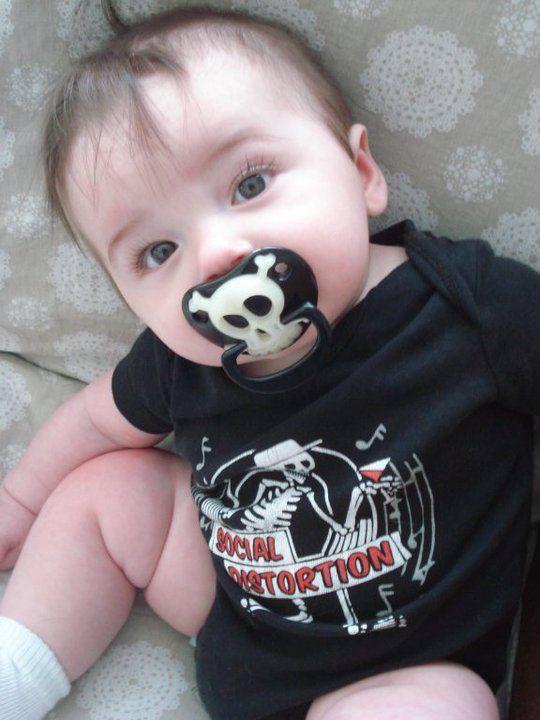 ce257aa43 Social Distortion baby onesie - My Baby Rocks www.punkbabyclothes.net  #mybabyrocks #punkbabyclothes