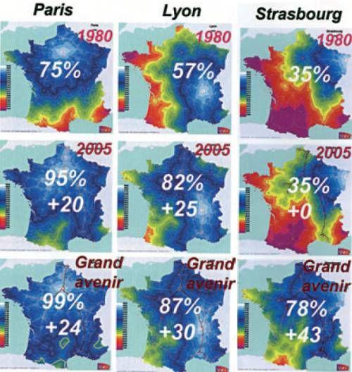 La Carte De France Deformee Par Le Tgv Carte De France Carte